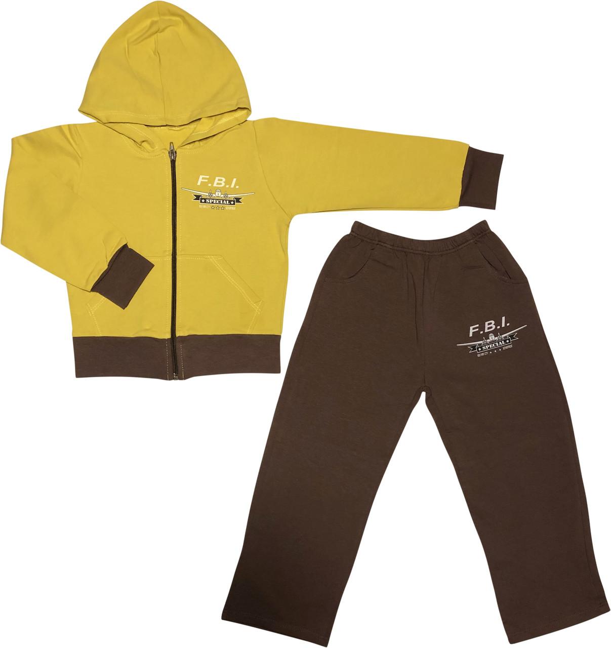Дитячий спортивний костюм ріст 104 (4 роки) трикотаж коричневий на хлопчика для дітей К-553