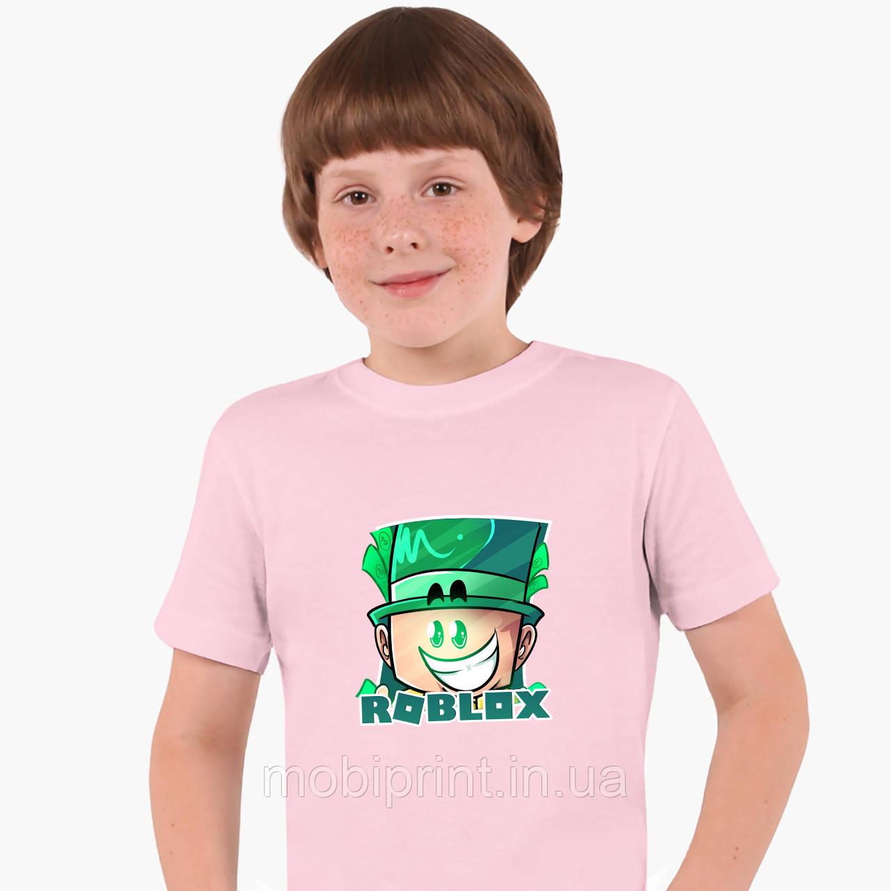 Детская футболка для мальчиков Роблокс (Roblox) (25186-1226) Розовый