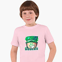 Детская футболка для мальчиков Роблокс (Roblox) (25186-1226) Розовый, фото 1