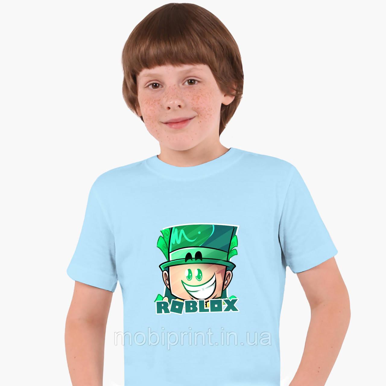 Детская футболка для мальчиков Роблокс (Roblox) (25186-1226) Голубой