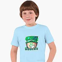 Детская футболка для мальчиков Роблокс (Roblox) (25186-1226) Голубой, фото 1