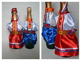 Декор для свадебного шампанского