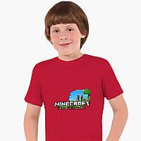 Детская футболка для мальчиков Майнкрафт (Minecraft) (25186-1170) Красный, фото 1