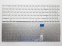 Клавиатура для ноутбуков Asus VivoBook A556, X556, X756 белая без рамки RU/US