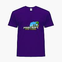 Детская футболка для мальчиков Майнкрафт (Minecraft) (25186-1170) Фиолетовый, фото 1