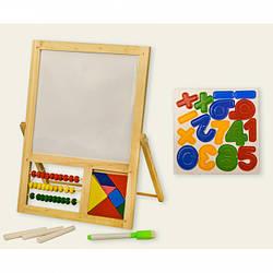 Дерев'яна дошка для навчання і малювання.