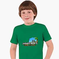 Детская футболка для мальчиков Майнкрафт (Minecraft) (25186-1170) Зеленый, фото 1