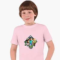 Детская футболка для мальчиков Майнкрафт (Minecraft) (25186-1175) Розовый, фото 1