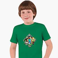 Детская футболка для мальчиков Майнкрафт (Minecraft) (25186-1175) Зеленый, фото 1