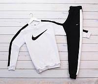 Спортивный костюм Nike свитшот и штаны с белыми лампасами