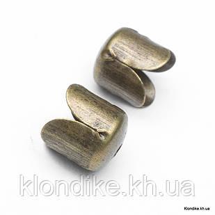 Конус Шапочки для Бусин, Железные, 6.5×7 мм, отв. 1 мм, Цвет: Бронза (50 шт.)