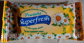 Универсальные влажные салфетки Superfresh с ромашкой 15 шт