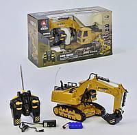 Экскаватор на радиоуправлении XM 6810 L аккумулятор 6V звук Желтый