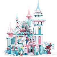 """Детский большой конструктор """"Зимний замок принцессы"""" Sluban M38-B0789 с фигурками и мебелью (1314 дет), фото 1"""