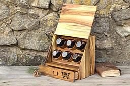 Скринька схованку 2 в 1 з дерева для годин і особистих речей. Подарунок чоловікові дружині хлопцеві, чоловічий жіночий органайзер