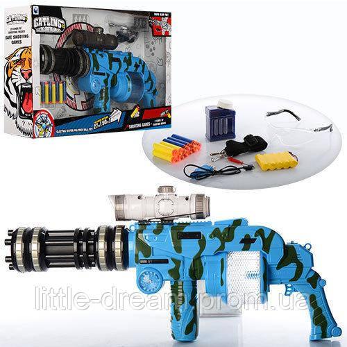 Автомат игрушечный 6-ствольный YH833E с мягкими водяными пулями (копия GATLING)