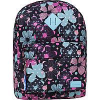 Рюкзак жіночий міський молодіжний Bagland для дівчини яскраві квіти 17 л.