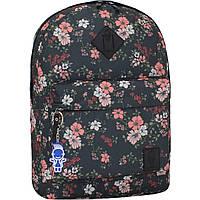 Рюкзак женский городской молодежный Bagland для девушки розовые цветы 17 л.