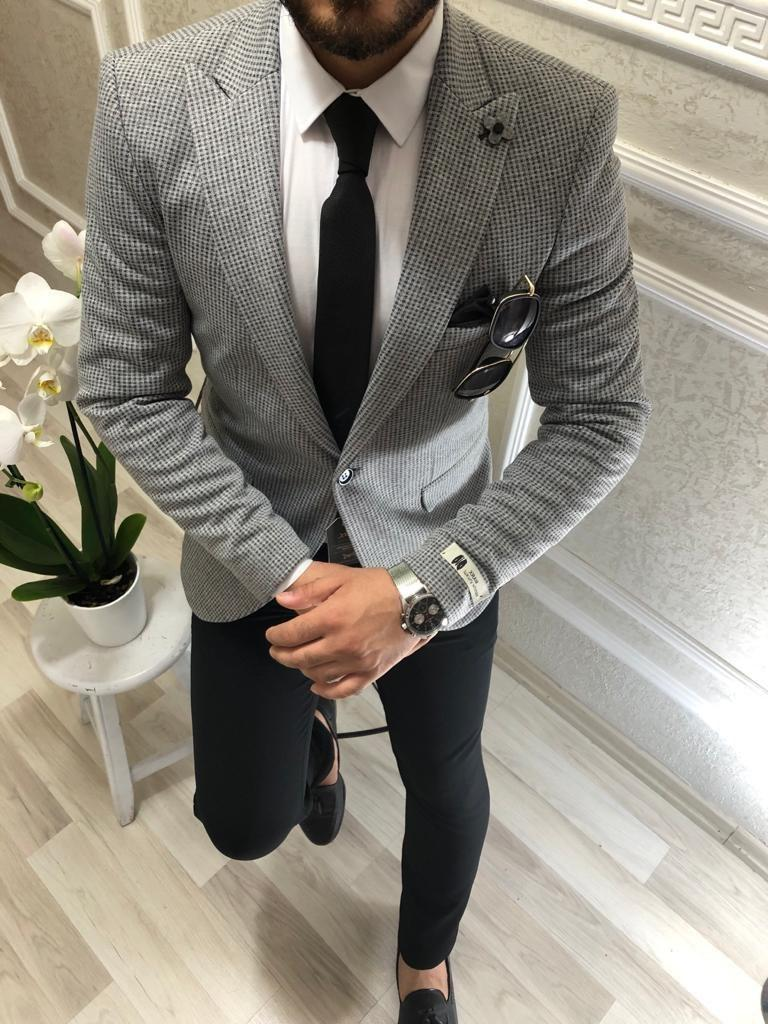 Мужской пиджак Анвар серый