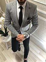 Чоловічий піджак Анвар сірий, фото 1