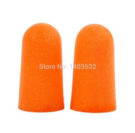 Бируши у вуха, помаранчеві - розмір однієї бируши 2,5 см