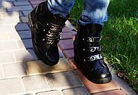 Сникерсы женские черные Пряжки. Польша