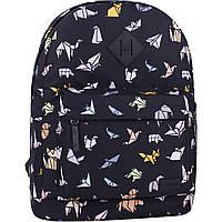 Рюкзак городской молодежный Bagland для девушки и парня оригами 17 л.
