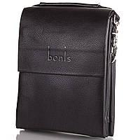 Борсетка мужская из качественного кожезаменителя  BONIS (БОНИС) SHIS8607-black