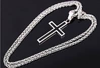 Крестик с цепочкой из нержавеющей стали