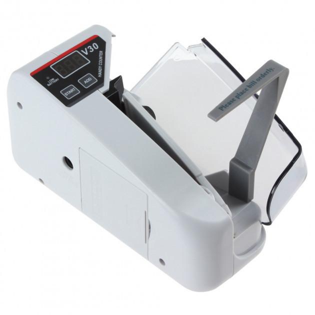 Портативная счетная машинка для денег V30, от сети и от батареек