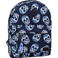 Рюкзак міський молодіжний Bagland для дівчини і хлопця черепа 17 л.