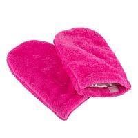 Рукавиці (рукавички) махрові для парафінотерапії Рожеві