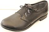 Туфли черные кожаные женские от производителя модель КС26К, фото 2
