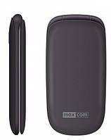 Кнопочный телефон бабушкофон раскладушка с блютузом, кнопкой сос и мп3 на 2 симки Maxcom MM818 Black
