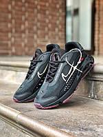 Кроссовки мужские Nike черные с сиреневой подошвой