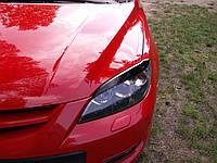 Реснички Mazda 3 Hatchback, накладки на фары Мазда 3 Хетчбек, фото 1