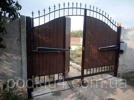 Ворота распашные автоматические, фото 2