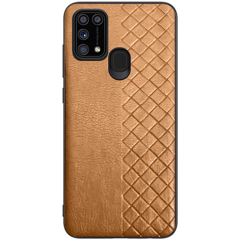 Samsung Galaxy A31 (37585) Коричневый кожанный чехол на самсунг а31