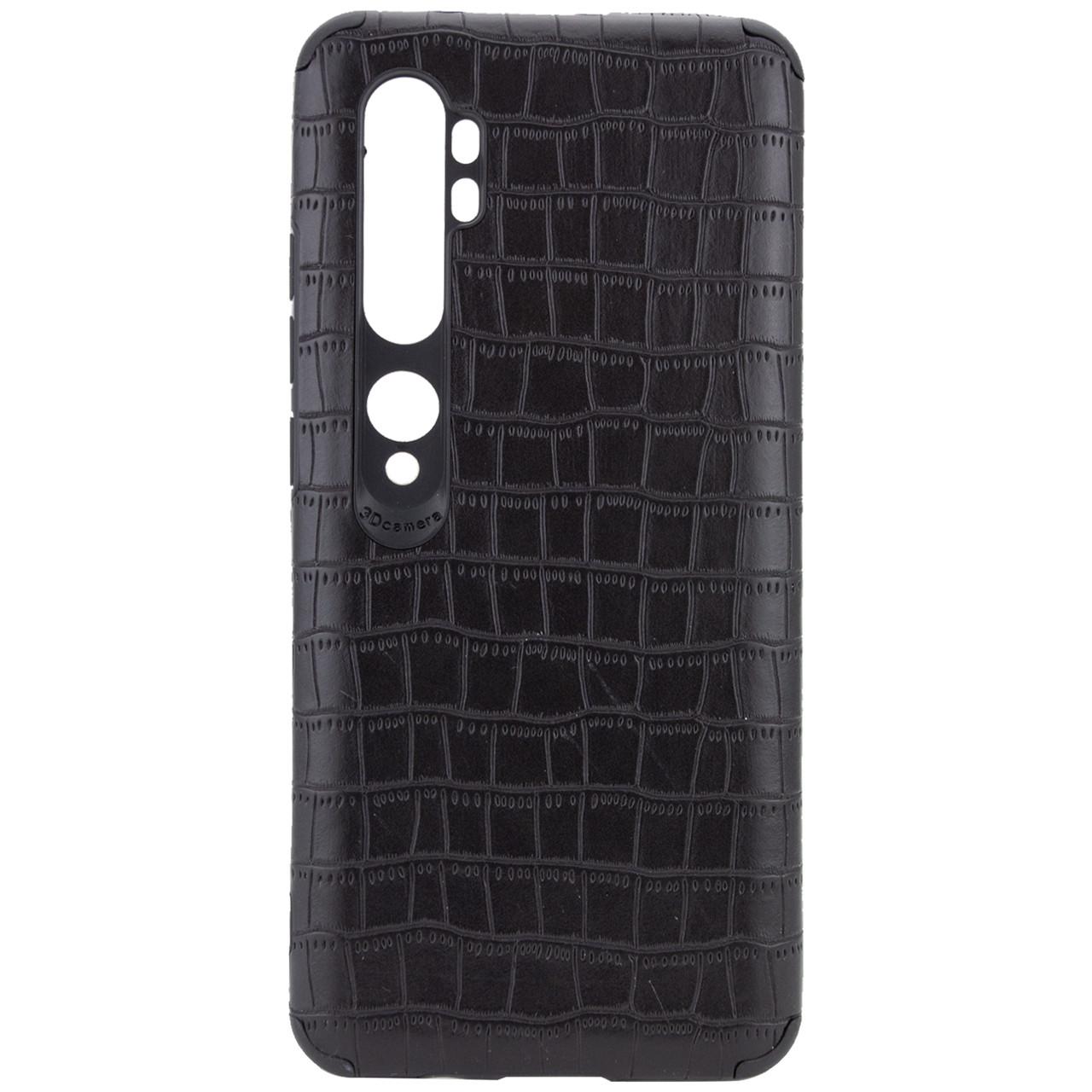 Xiaomi Mi Note 10 / Note 10 Pro / Mi CC9 Pro 34644 Чорний шкіряний чохол на ксяоми ми нот 10 нот 10 про мі сс9