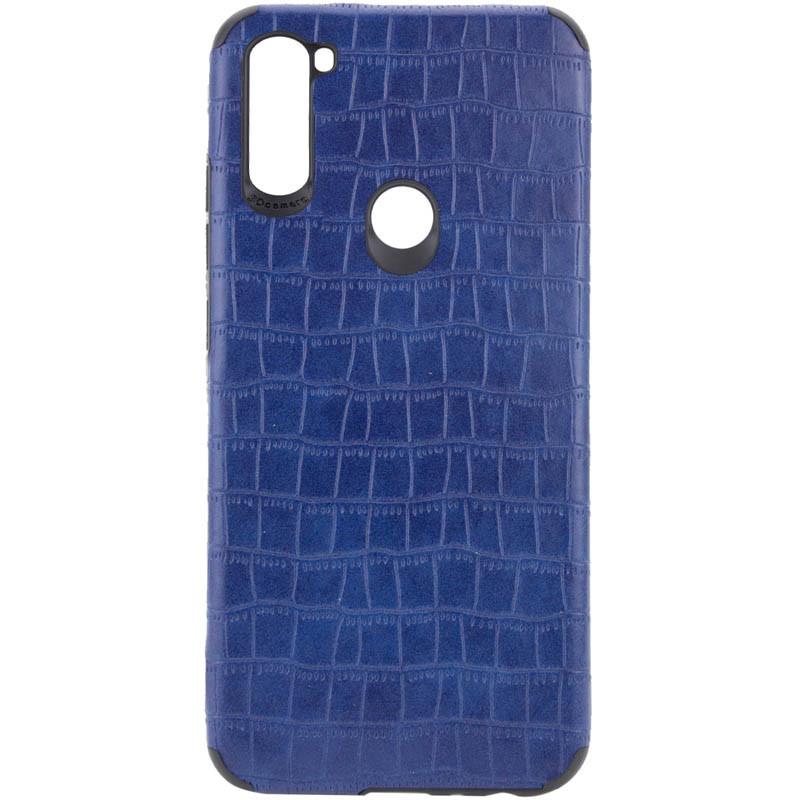 Samsung Galaxy M11 36308 Синій шкіряний чохол на самсунг м11