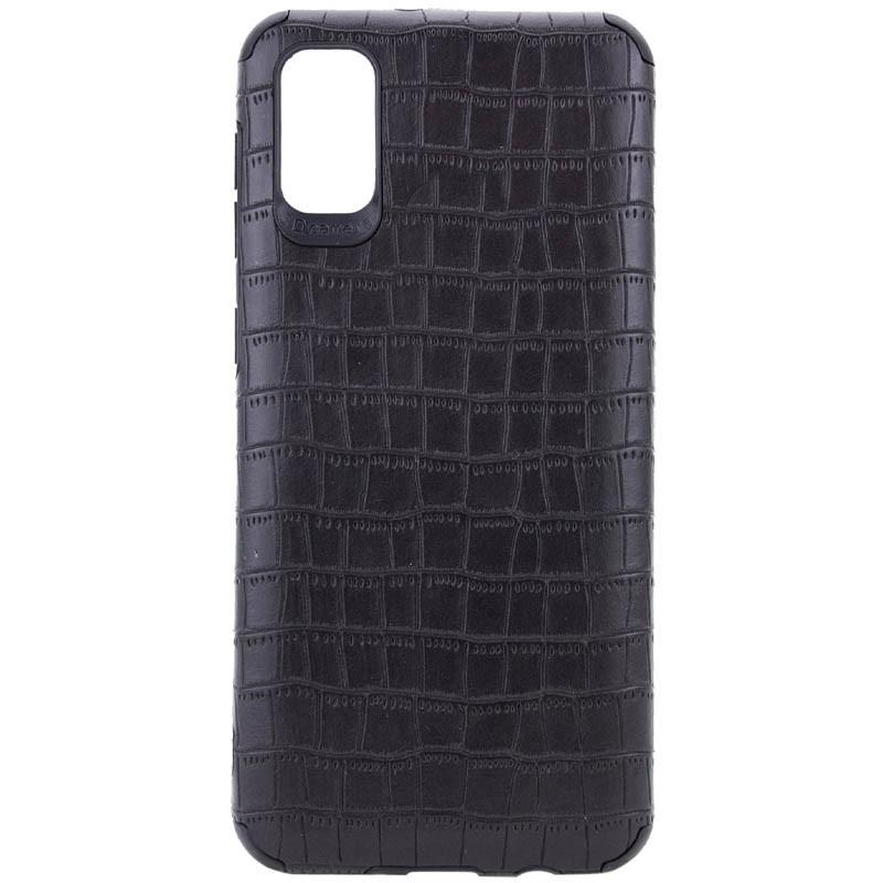 Samsung Galaxy A51 (36312) Черный кожаный чехол на самсунг а51