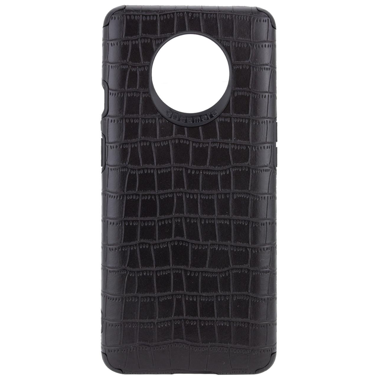 OnePlus 7T (34649) Чорний шкіряний чохол на оне плюс ван плюс 7т