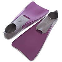 Ласты с закрытой пяткой MadWave M074605509W (резина, размер 40-41, фиолетовый-серый)
