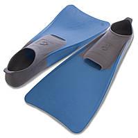 Ласты с закрытой пяткой MadWave M074605608W (резина, размер 42-43, голубой-серый)