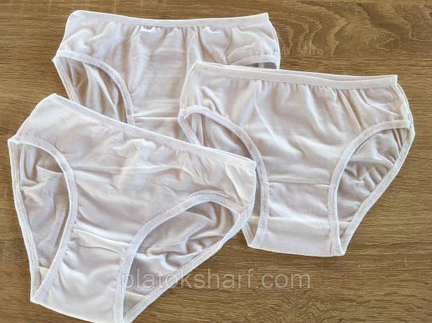 Трусы детские для девочек Хлопок Белые 3-6 лет (6011М), фото 1, фото 2