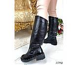 Зимние сапоги кожаные, фото 3