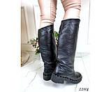 Зимние сапоги кожаные, фото 4