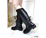 Зимние сапоги кожаные, фото 5