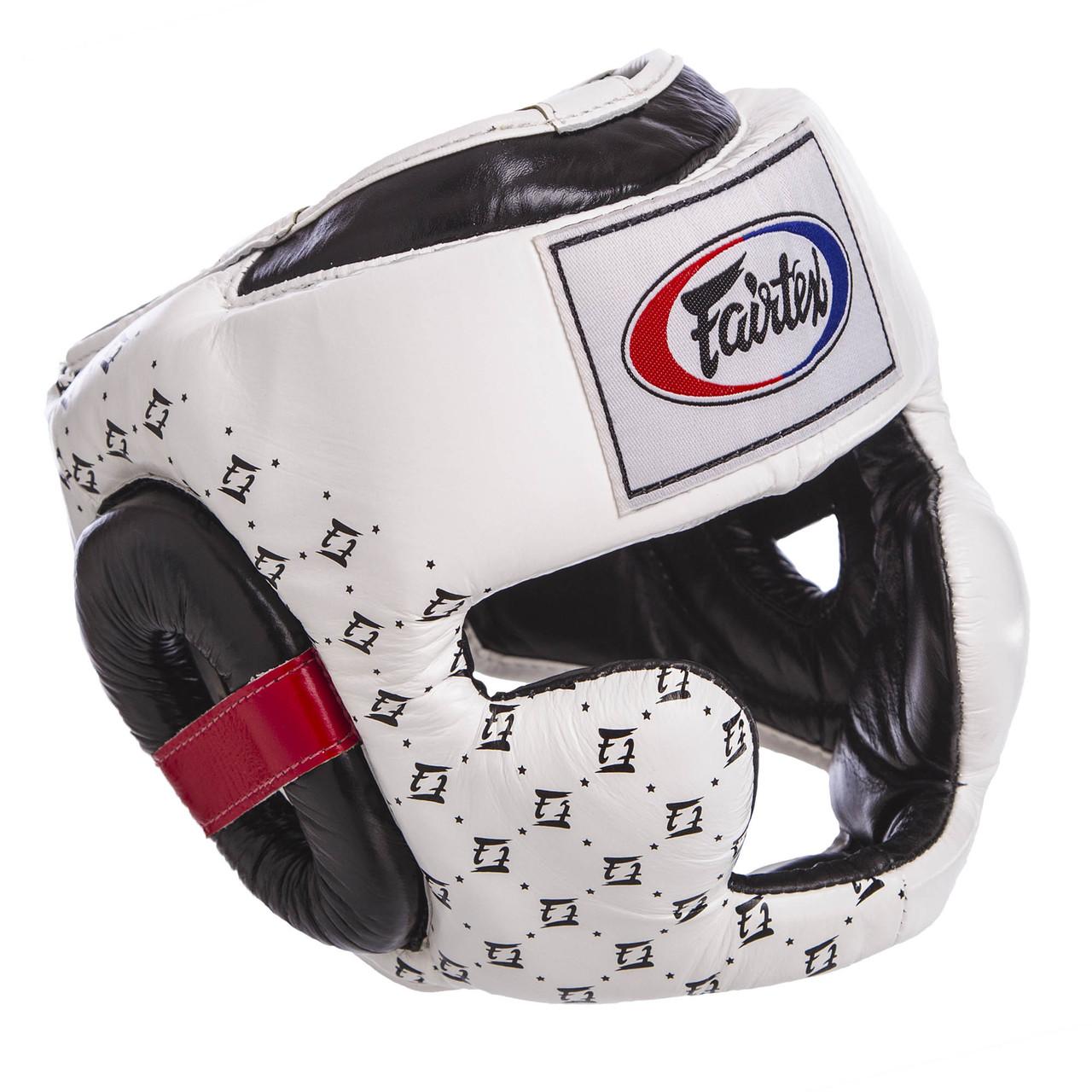 Шлем боксерский с полной защитой кожаный FAIRTEX HG10 (р-р M-XL, цвета в ассортименте)