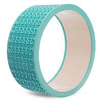 Колесо-кольцо для йоги массажное FI-1472 Wheel Yoga (EVA, PVC, d-33см, цвета в ассортименте)